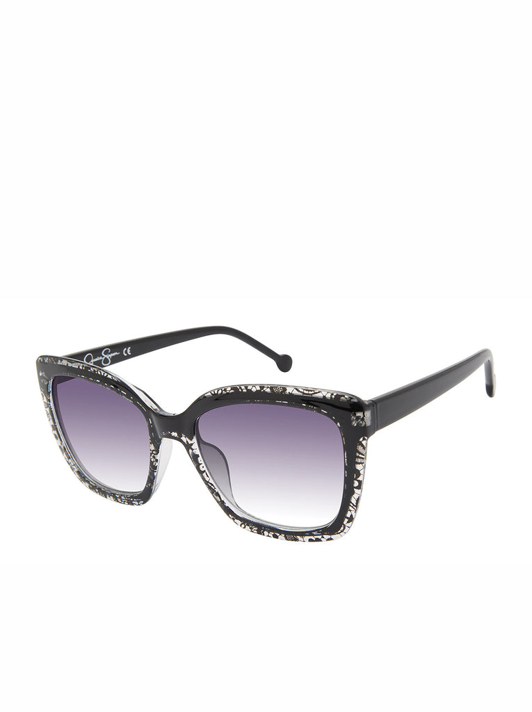 Chic Cat-Eye Sunglasses in Black Lace
