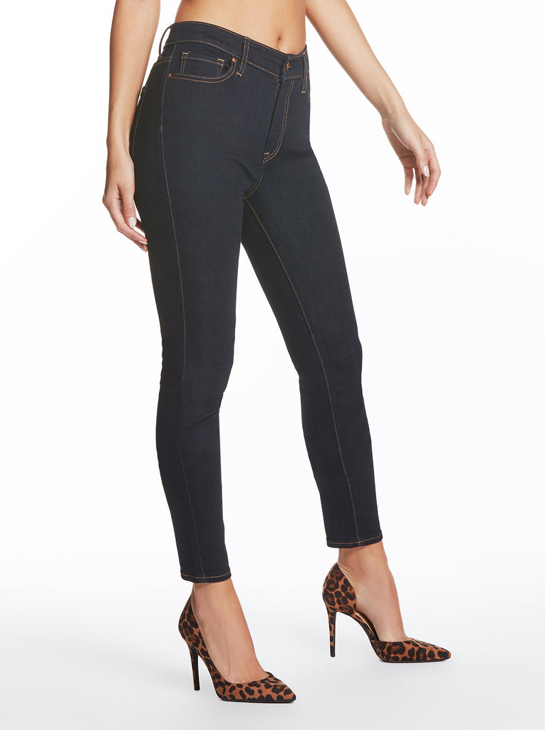 Curvy High Rise Skinny Jean in Rustin