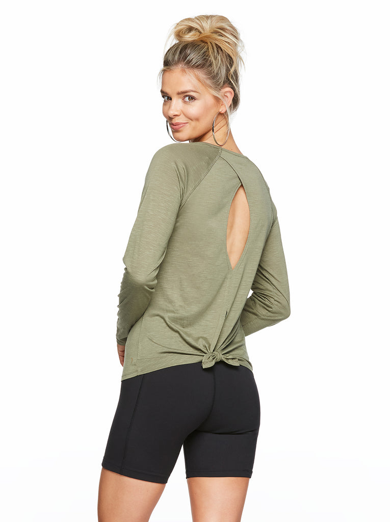 Emori Top in Lichen Green