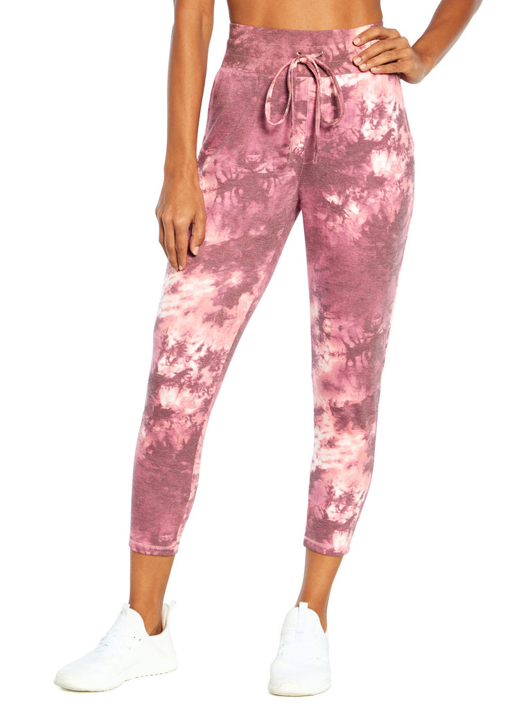Riley Jogger in Tea Rose Tie Dye Swirl