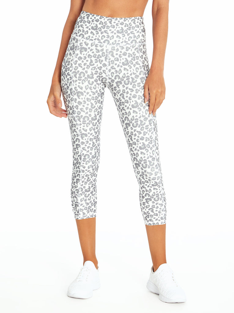 Movement Capri in Silver Filigree Painted Leopard