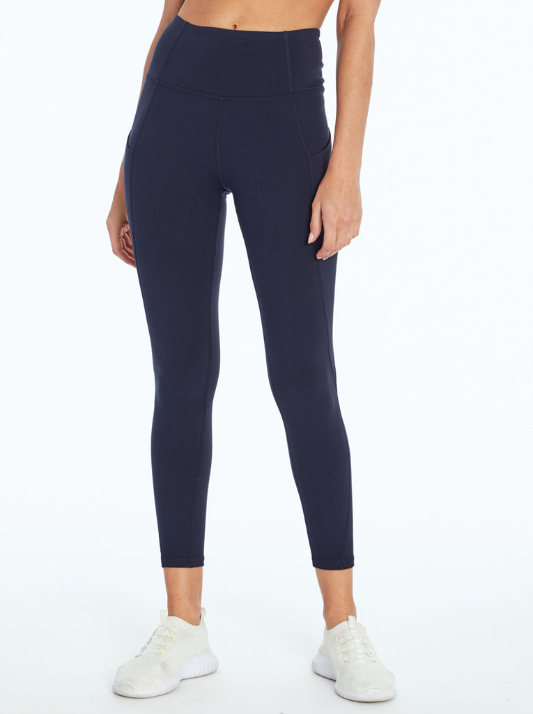 Tummy Control Ankle Legging in Midnight Blue