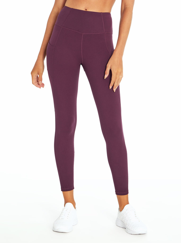 Tummy Control Ankle Legging in Blackberry Wine