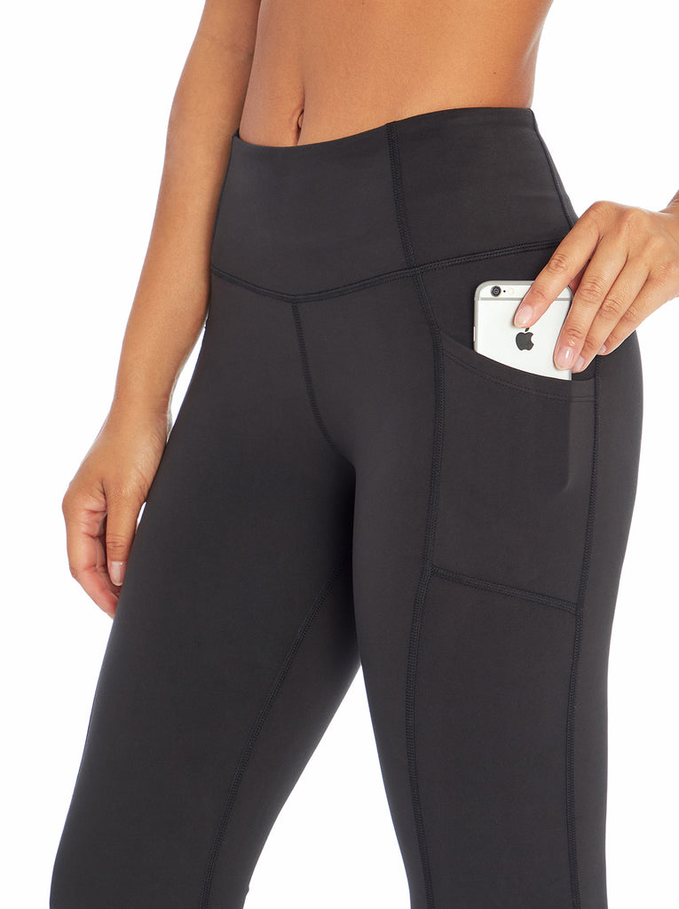 Tummy Control Flared Yoga Pant in Meteorite