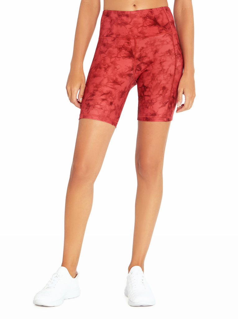 Tummy Control Bermuda in Mineral Red Ink Tie Dye