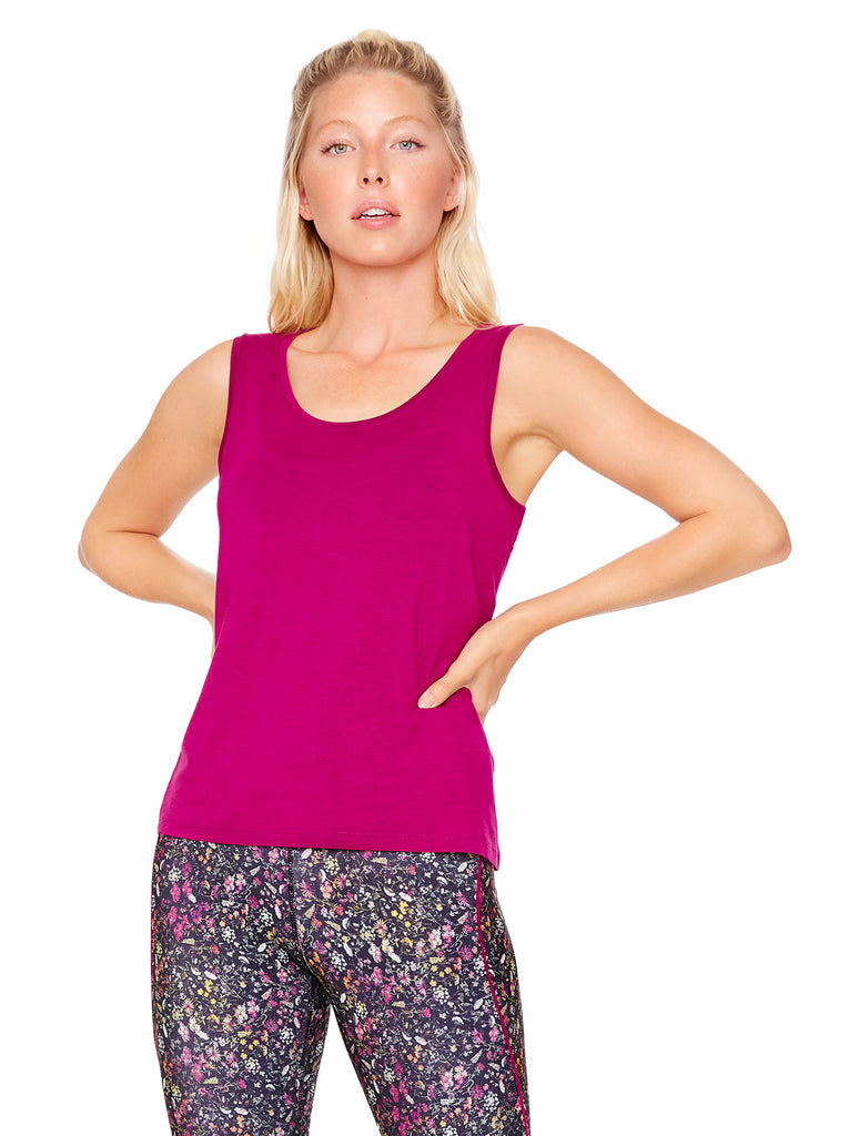 Rose Tank in Magenta Lust
