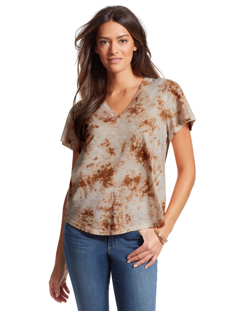 Carly Tee in Golden Ochre Tie Dye