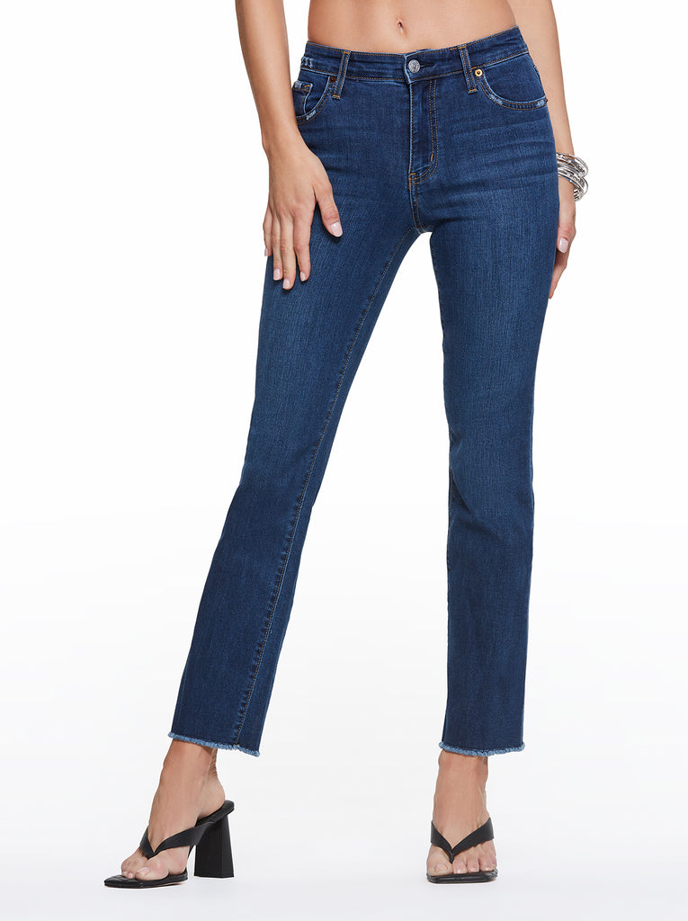 Adored High Rise Kick Flare Jeans in Rollergirl