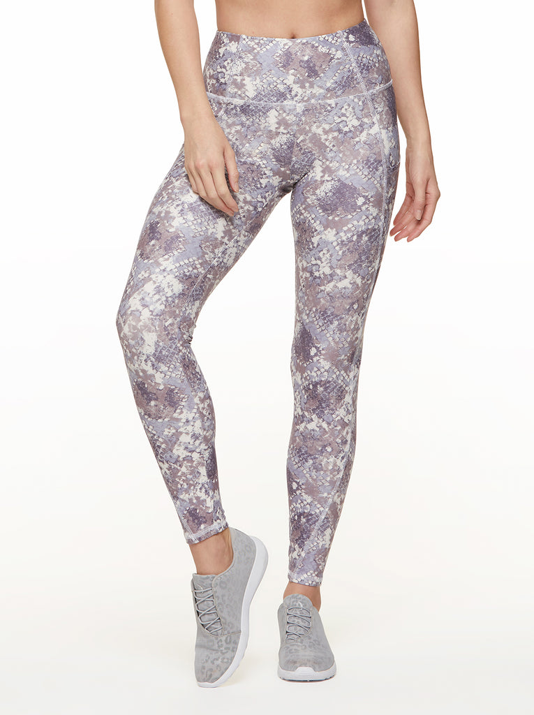 Tummy Control Ankle Legging in Purple Heather Cobra