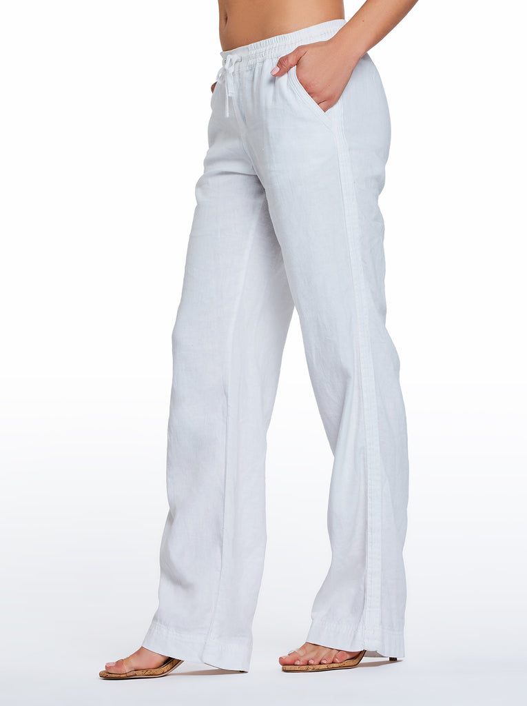 Nara Beach Pant in White