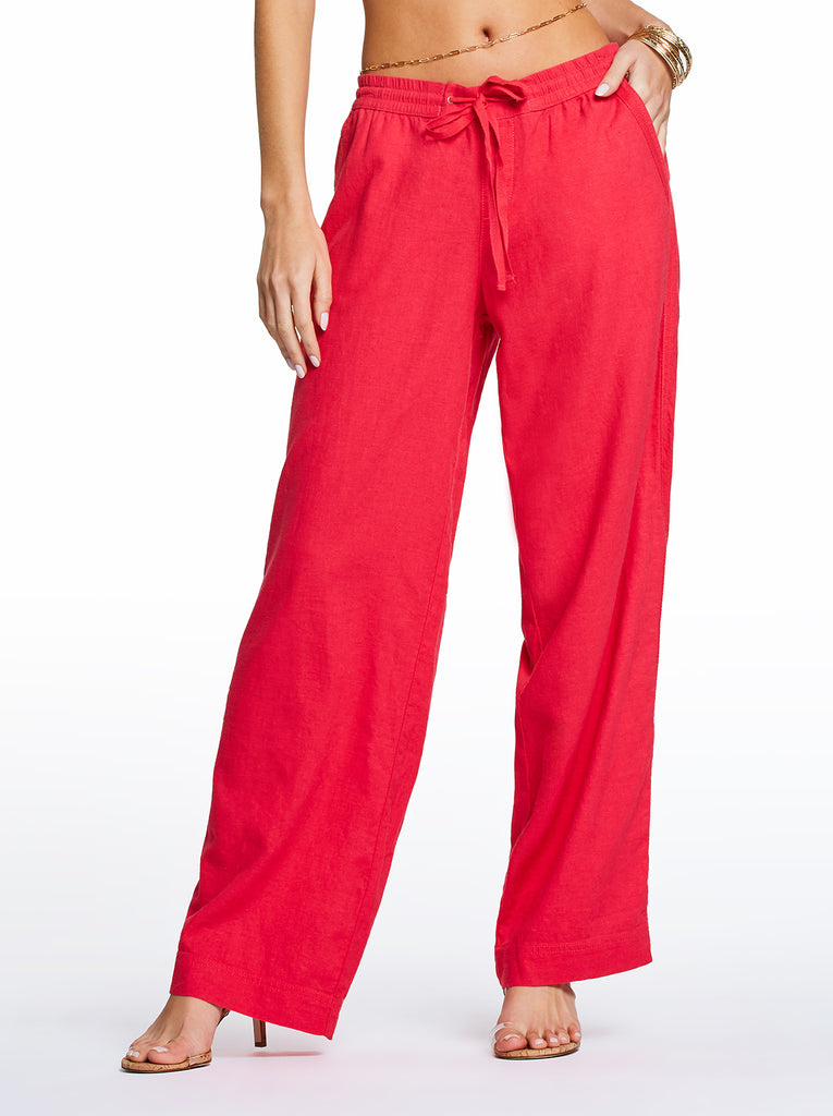 Nara Beach Pant in Rose Red