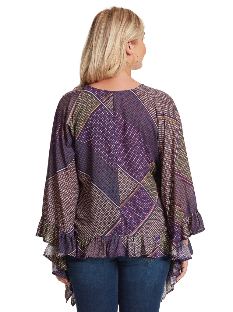 Toccata Patch Poncho in Mood Indigo