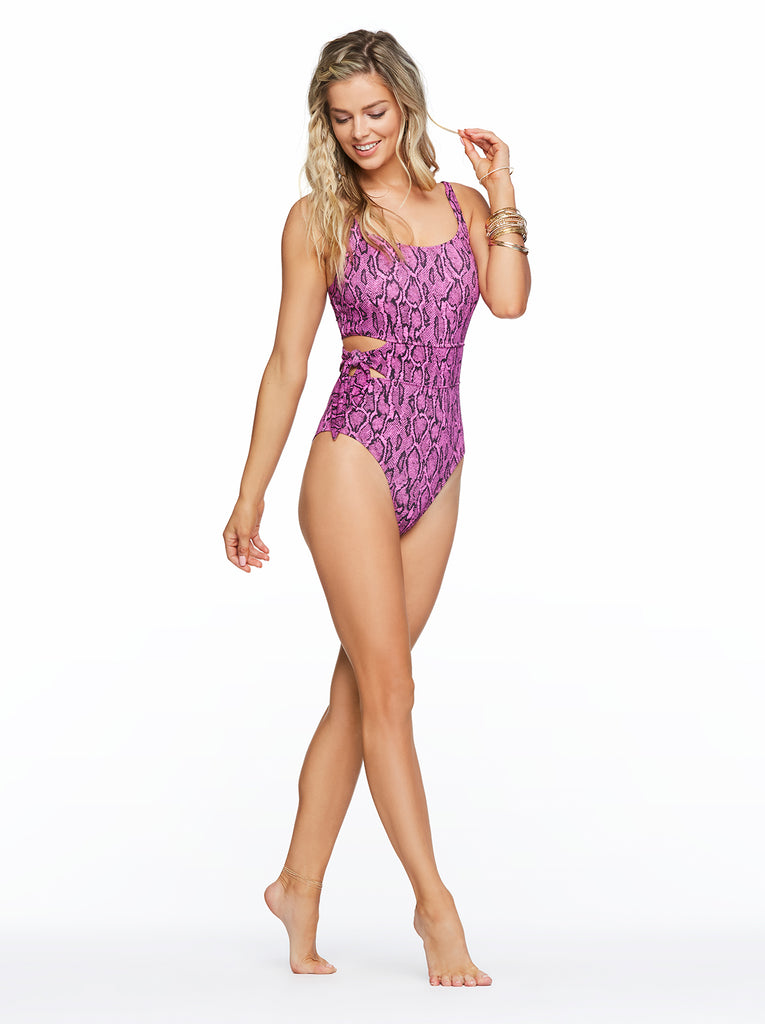 Snake Charmer One Piece in Fuchsia