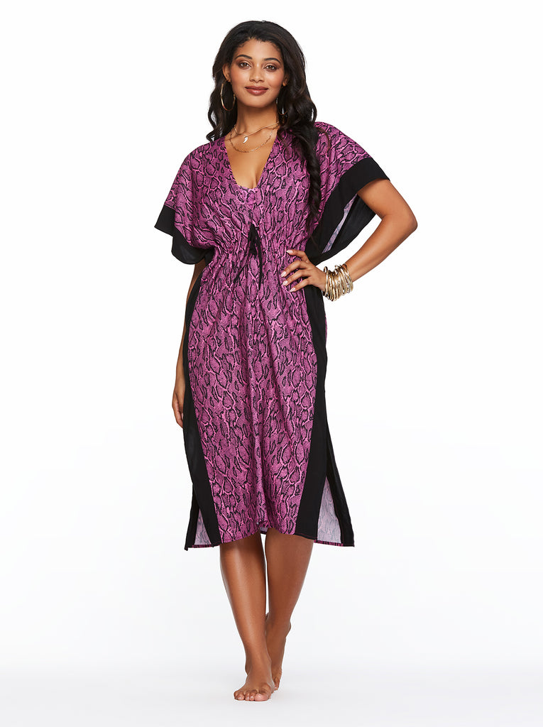 Snake Charmer Cover up in Fuchsia