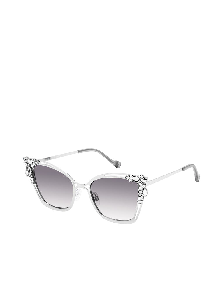 Square Rhinestone Cat-Eye in Silver