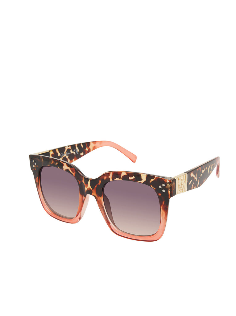 Stand-Out Cat-Eye Sunglasses in Tortoise & Rose