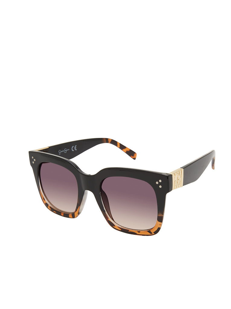 Stand-Out Cat-Eye Sunglasses in Black & Tortoise