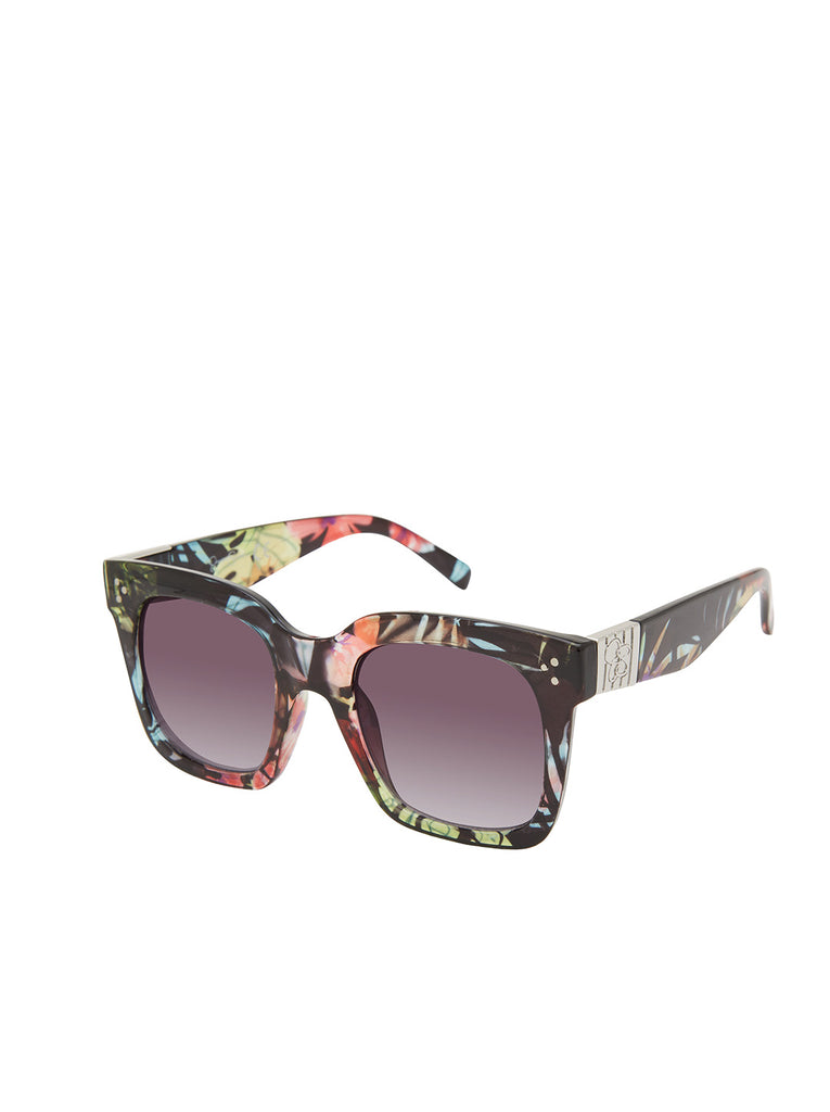 Stand-Out Cat-Eye Sunglasses in Floral