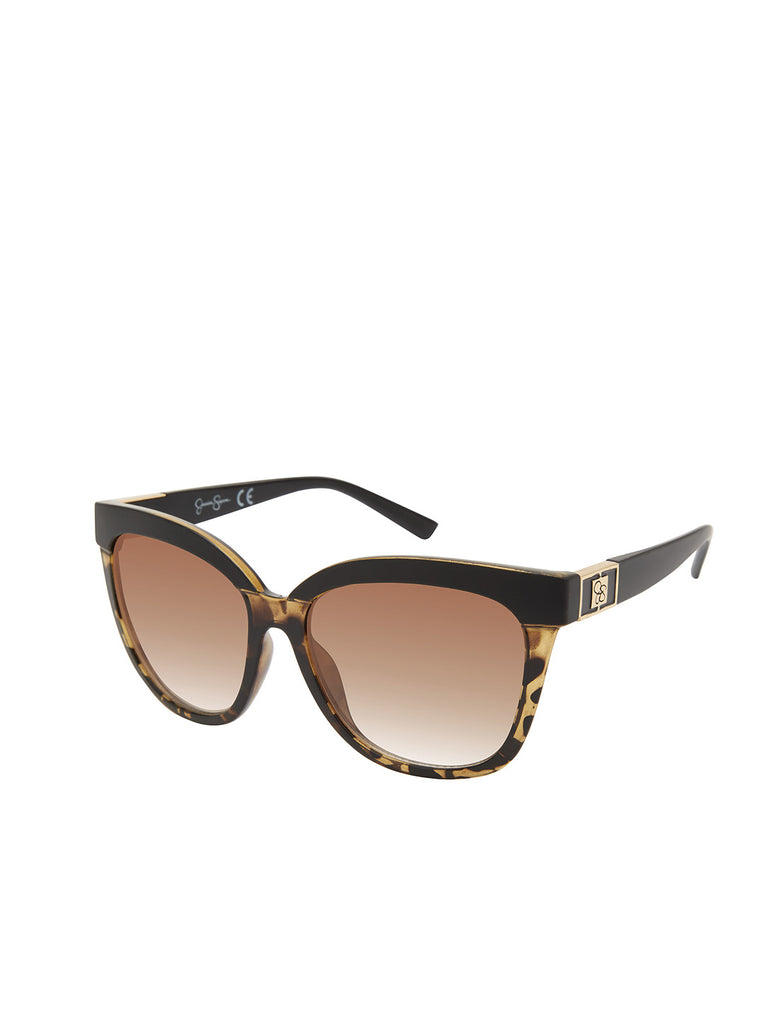 Timeless Cat-Eye Sunglasses in Black & Tortoise