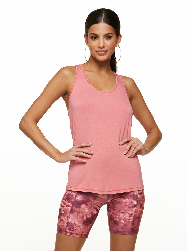 Tara Twist Tank in Tea Rose