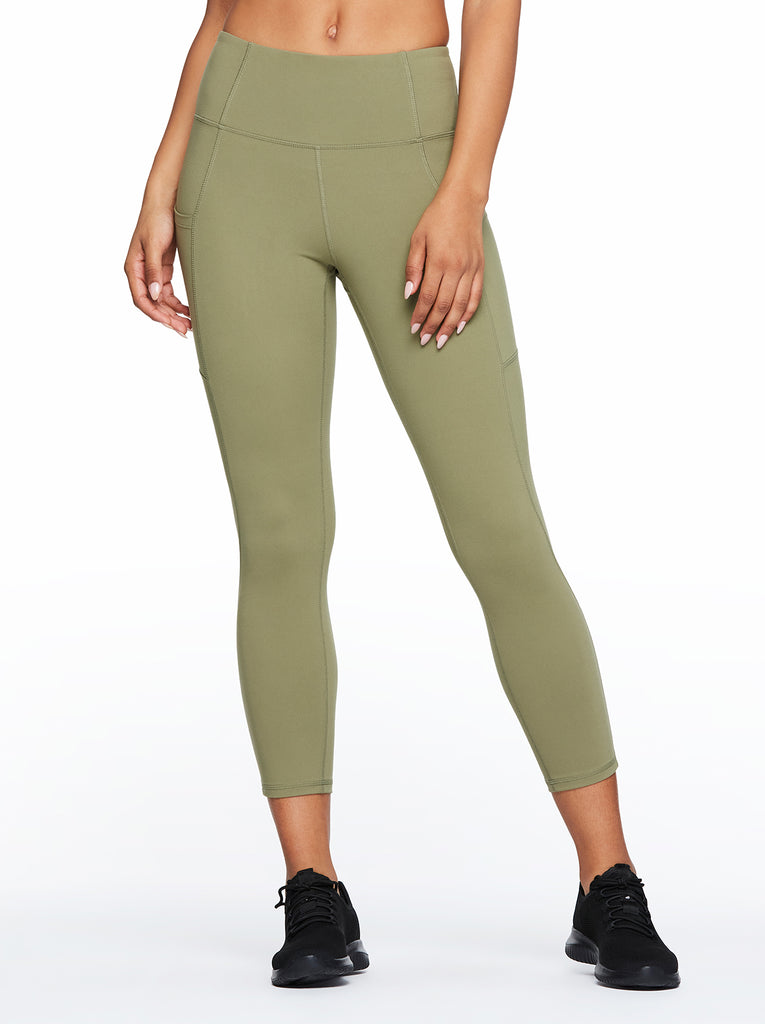 Tummy Control Ankle Legging in Deep Lichen Green
