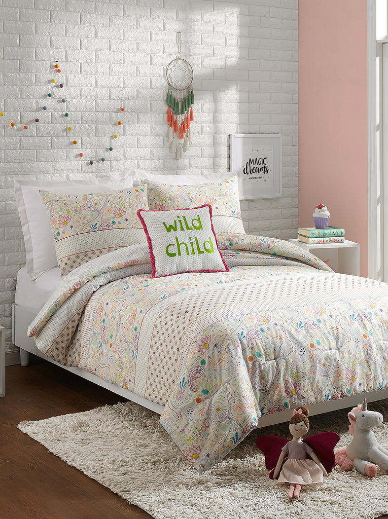 Whimsical Paisley Kids Comforter Set