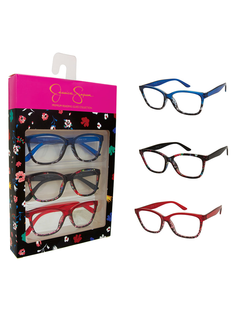 Set of 3 Rectangle Readers in Blue Animal, Red Animal & Confetti