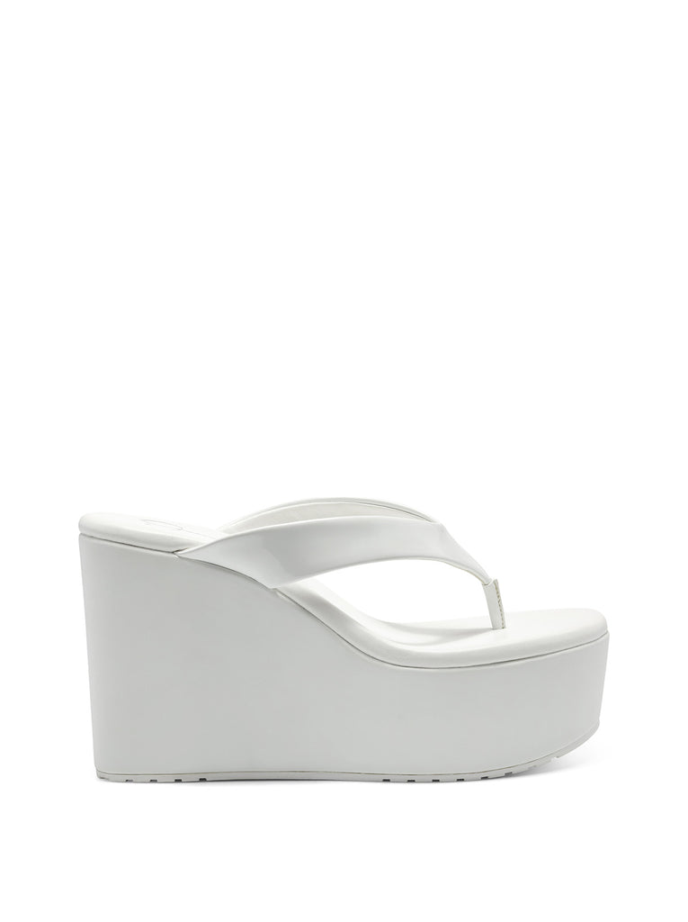 Stilla Platform Wedge Slide in White