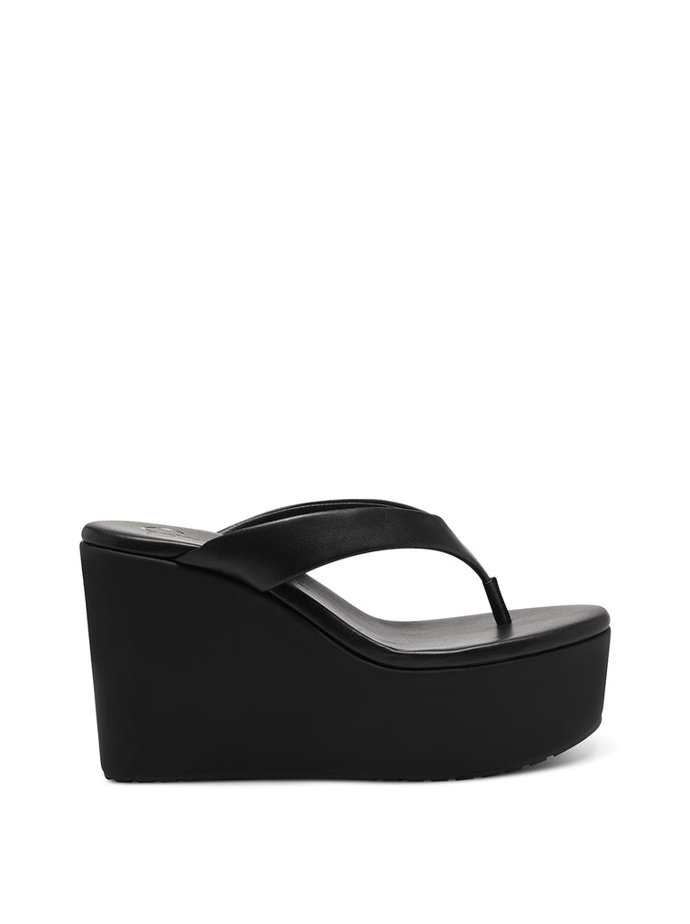 Stilla Platform Wedge Slide in Black