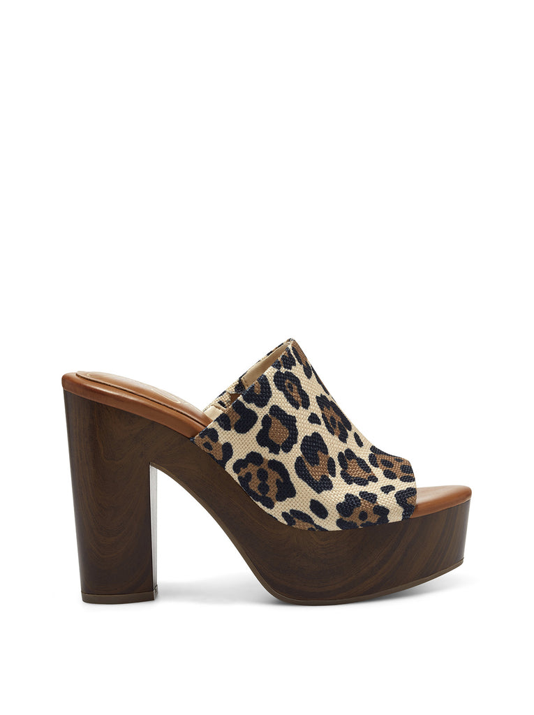 Shelbie Platform Slide in Leopard