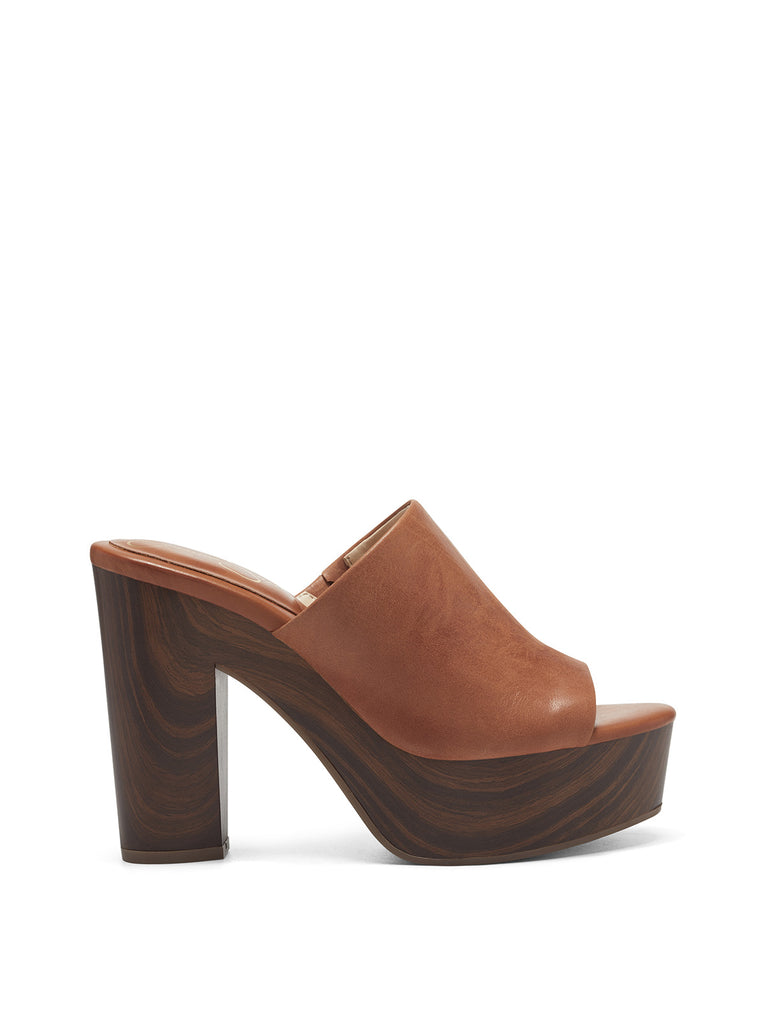 Shelbie Platform Slide in Caramel