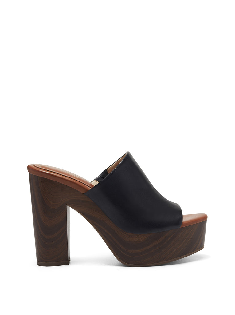 Shelbie Platform Slide in Black