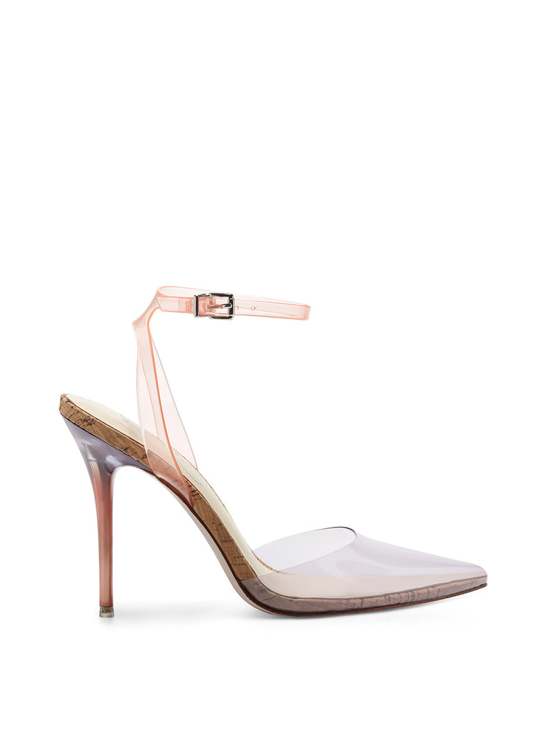 Pirrie High Heel in Clear Purple & Peach