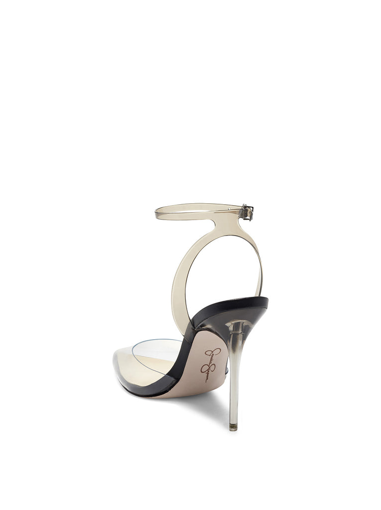 Pirrie High Heel in Clear & Black