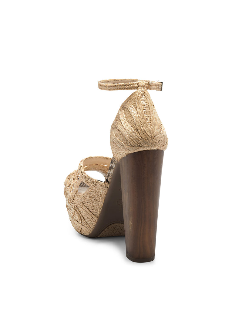 Dessie Platform Sandal in Natural