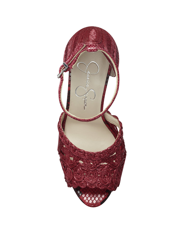 Dessie Platform Sandal in Red