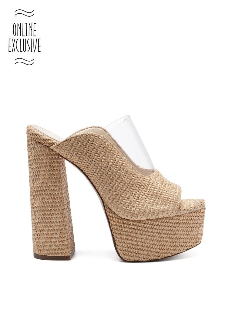 Annalyn Platform Slide in Natural