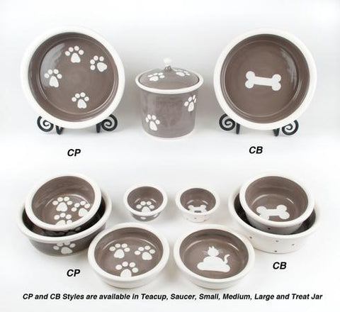 PetWare Pottery Ceramic Pet Bowls