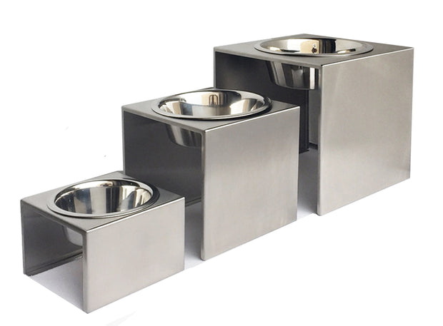 PEts Stop Slate Diner Dog Food Bowls size Small Medium Large