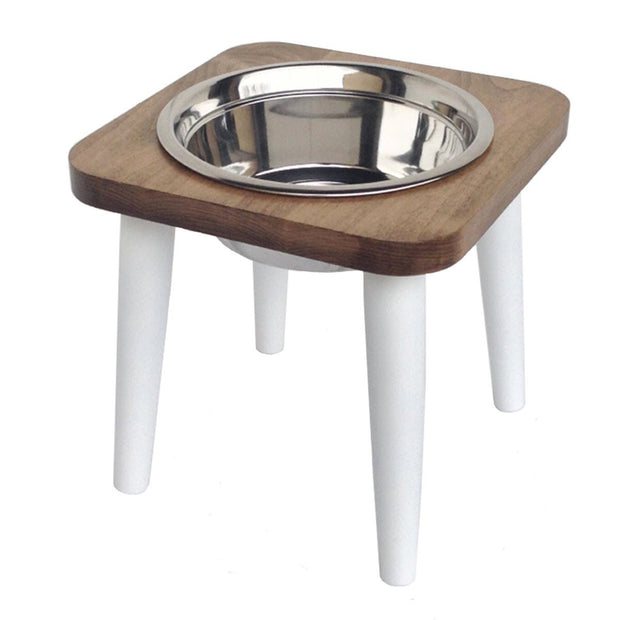 Pets Stop Southern Maple Single Bowl White Legs