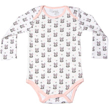 Load image into Gallery viewer, FH-119 - Baby Girl Bodysuit/Romper - Pink Rabbit All-Over Print - Featherhead Baby