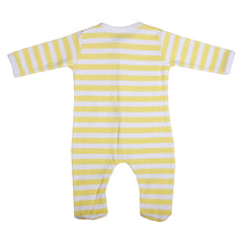 Load image into Gallery viewer, FH-7001 - Baby Girl & Baby Boy Sleeper - Yellow Stripe - Featherhead Baby