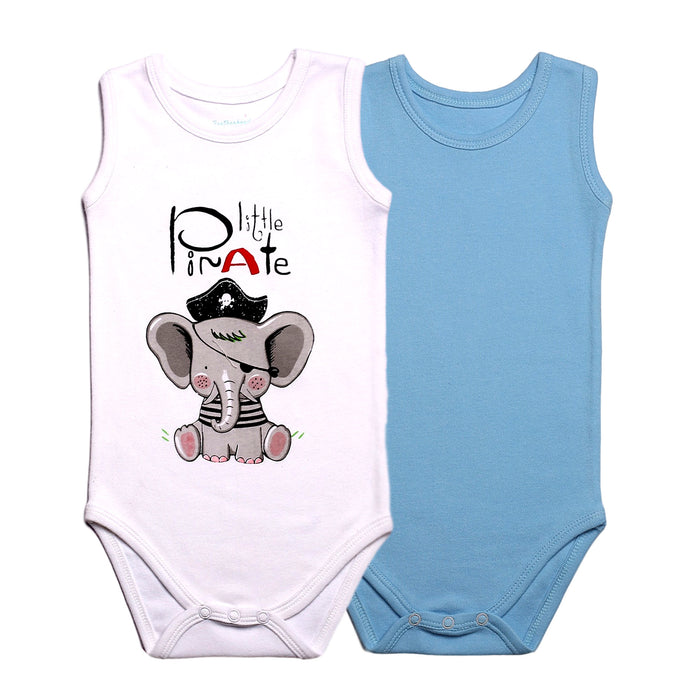 FS-67 Baby Boy 2-Pack Tank Tops - Blue Solid and