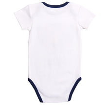 "Load image into Gallery viewer, FS-143 Baby Boy Bodysuit/Romper - ""Super Cute"" Print - Featherhead Baby"