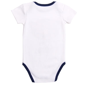 "FS-143 Baby Boy Bodysuit/Romper - ""Super Cute"" Print - Featherhead Baby"