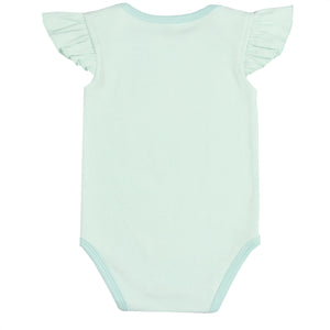"FH-5021 - Baby Girl Bodysuit/Romper - ""Always Be a Mermaid"" Scuba Blue - Featherhead Baby"
