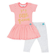 FG-3501 Little Queen 2-Piece Skirt Shirt & Grey Leggings - Featherhead Baby