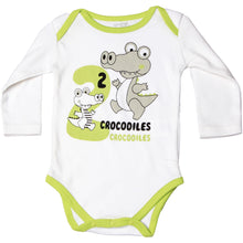 Load image into Gallery viewer, FH-122 - Baby Boy Bodysuit/Romper - 2 Crocodiles Print