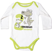 FS-122 Green Crocodiles Bodysuit - Featherhead Baby