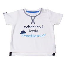 "Load image into Gallery viewer, FH-108 - Baby Boy T-Shirt - ""Mommy's Little Gentlemen"" Print - Featherhead Baby"